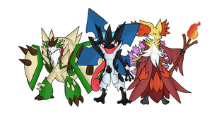Mega Evolution 6 Gen Starters by BetaX64