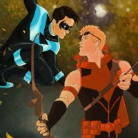 Fall: Dick and Roy by Iro-the-Random-one