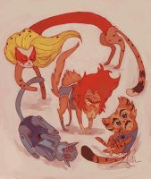 Thunder-house-cats by LeaCross