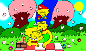 Mother's Day with Marge by MarioSimpson1