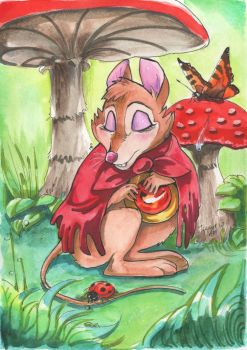 Mrs. Brisby had a rest by TiamatART