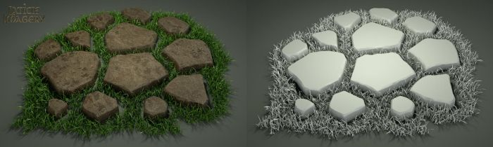 Laticis Imagery FREE Object - Pavers and Grass by Laticis