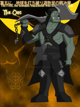 The Fifth Darkness- The Orc by TheScarletMercenary