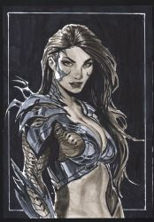 a4 witchblade copics sketch by nebezial