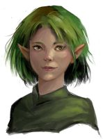 Elven girl by Nightblue-art