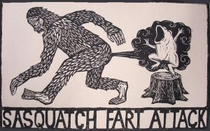 sasquatch fart attack by romulus71