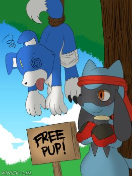 [Commission] Free Pup! by Winick-Lim
