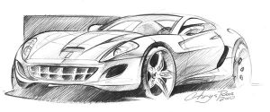 Ferrari sketch by ChrysRoos
