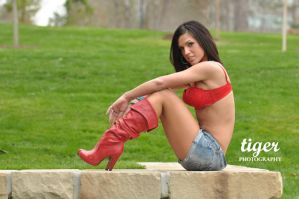 Tana in the Red Boots by tigerphotography
