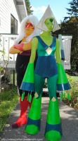 Steven Universe - Peridot and Jasper 2015 by sleepyotter