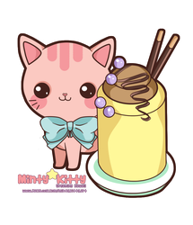 Pinky Pudding Kitty by Minty-Kitty-Art