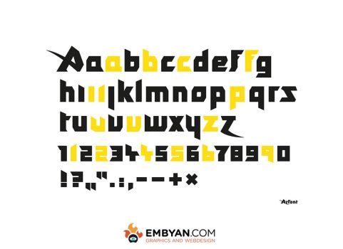 AzFont for Azfest by embyan