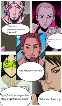 Chapter 1 page one: Getting a team. by DreamAbove101