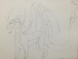 Fyra (dragon form) (unfinished) by Lifeistrange