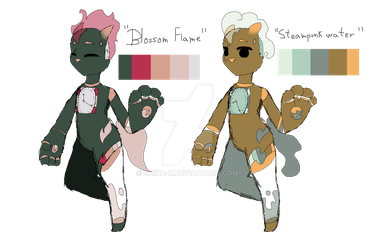Blossom Flame 'n Steampunk water adopts 2/2 :TKNS: by Shina-X