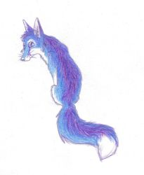 Blue and Purple Fox by ariastrife