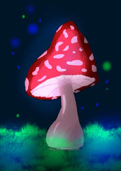Magic Mushroom by HeyImAmethyst