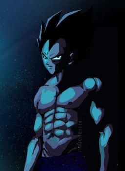 Vegeta armorless by touche1114