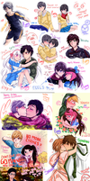 .Doodles invasion (fandoms, OTPs, others) ~ ~ by xiomicchi