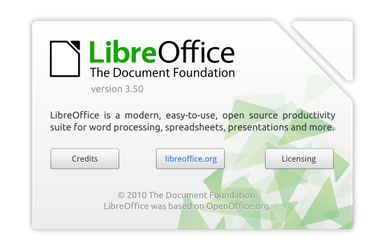 LibreOffice About Dialog Mockup by and471