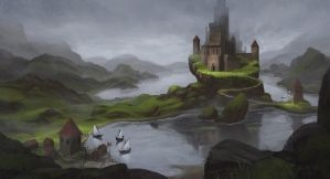Northern Castle by arenirart