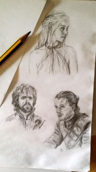 Game of Thrones Character sketches by EerieStir