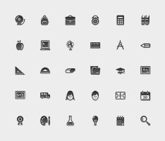 Education, School Icon Set by JaneVision