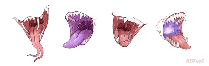 Mouths by RedBaronessThe3