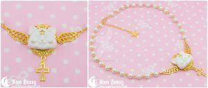 Dreamy star kitten Necklace 2 by CuteMoonbunny