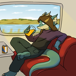 IrnBru on a Train by Morgoth883