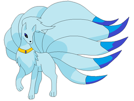 Ice Ninetales adopt by RoseandherThorns