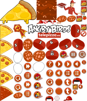 Angry Birds Telepizza Sprites by ChinZaPep
