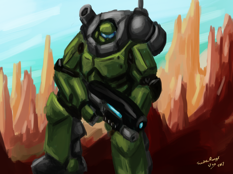 Mobile Infantry by ScouttheRangerDog