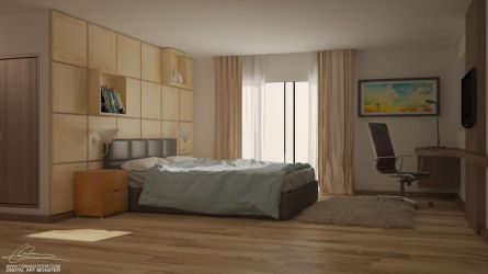 Modern Bedroom by osmanassem