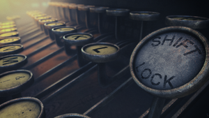 Antique Typewriter Cinema 4D by botshow