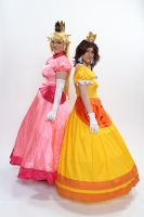 Peach and Daisy 2 'Naka-Kon 2013' by BeCos-We-Can-Cosplay