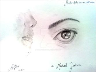 MJ's eye and mouth-Particular by SaralovesMichael