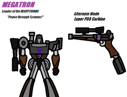 Megatron but he's a Luger by YpodkaaaY