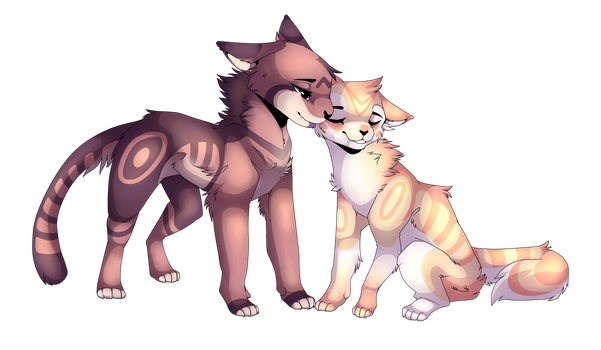 Leafpool X Mothwing by JSnowpaw