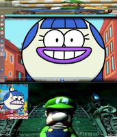 Zoona Reacts to Luigi Scary Faces by jaybirdking85