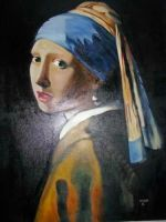Girl With a pearl earring copy by Datachew
