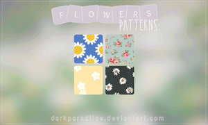 Flowers patterns by DarkParadiise