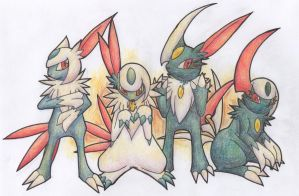 Hybrid Adoptables: Absol/Sneasel by Yakalentos