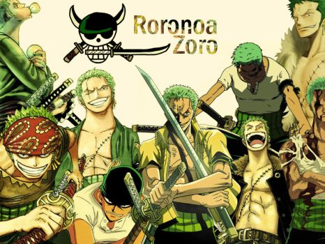 Roronoa Zoro collage wallpaper by Kingens