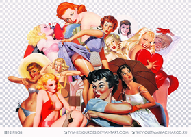 PNG PACK #14/PIN UP GIRLS by tvm-resources