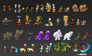 Futurama Pixel Characters by zarry