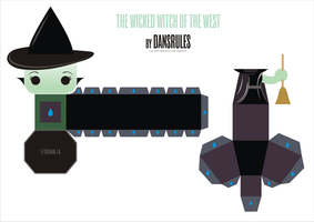 Wicked Witch Of The West PaperToy by Dansrules by dansrules