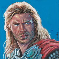 Thor Gouache Painting... by ssava