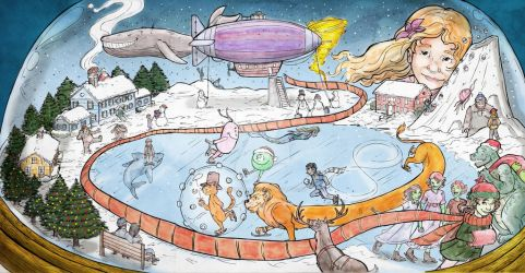 The Snow Globe_Portland Children's Museum Mural by Briansbigideas
