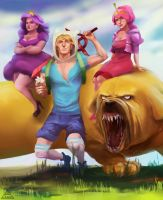 Finn and Jake by zhukzhenya14